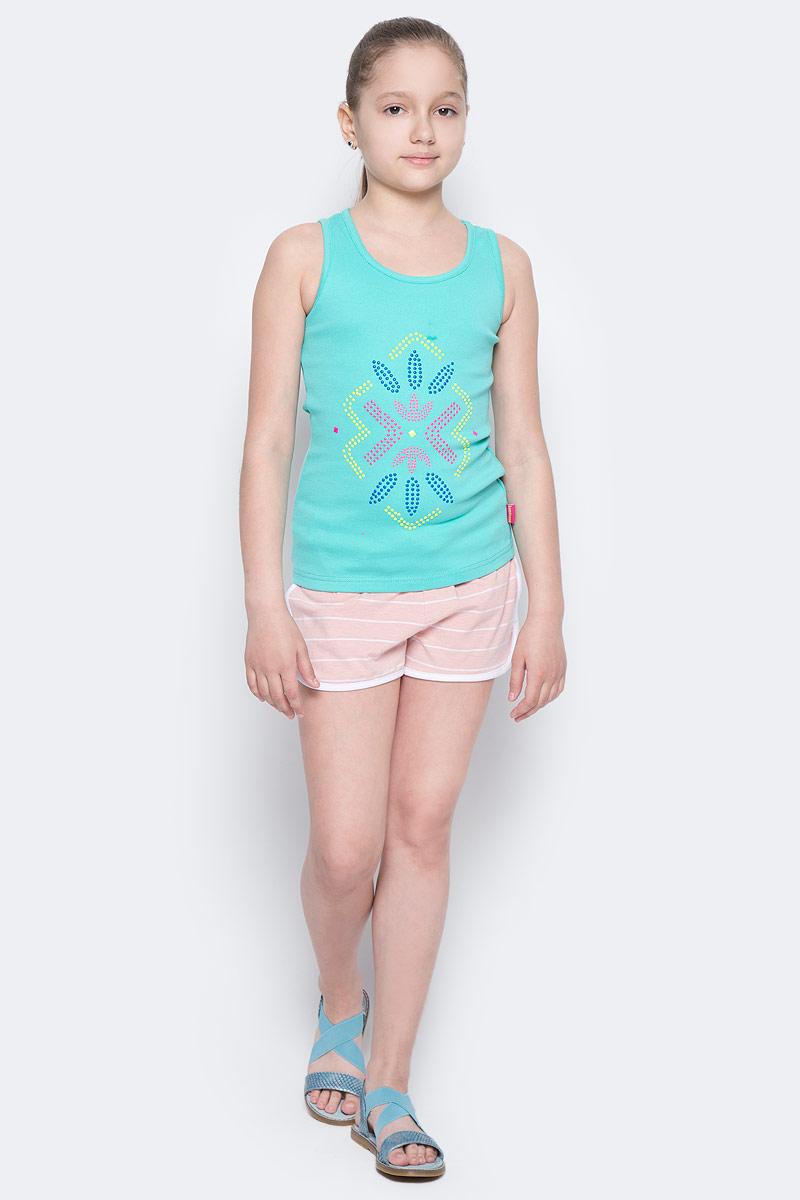 Шорты для девочки Button Blue Main, цвет: розовый, белый. 117BBGC54011205. Размер 134, 9 лет117BBGC54011205Детские трикотажные шорты — образец комфорта! Полосатые шорты для девочки сделают любой летний комплект в спортивном стиле ярким и интересным. Если вы хотите купить недорого трикотажные шорты на каждый день, модель от Button Blue — то, что нужно.