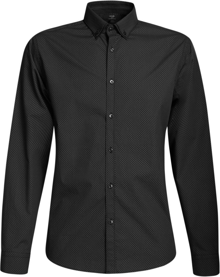 Рубашка3L110225M/19370N/2925GРубашка принтованная с двойным воротником