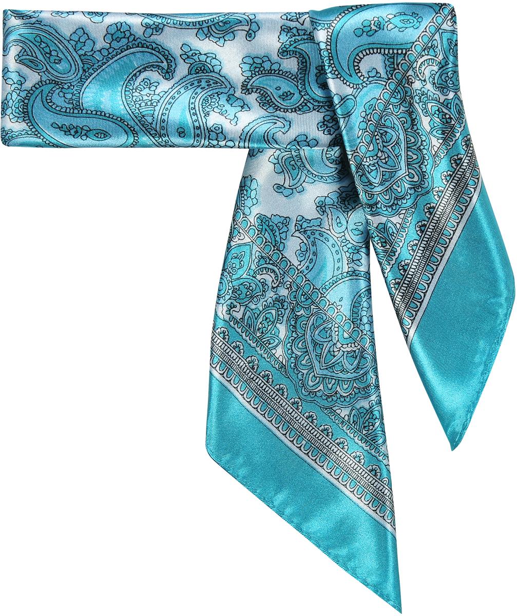 Шейный платок23/0515/219Трендовый шейный платок с принтом пейсли. Натуральный шелк в составе придает ему атласную, приятную на ощупь поверхность. Лаконичная машинная обработка края. Прекрасно подойдет для любого случая, будь то рабочий день или вечеринка. Состав: 15% шелк; 85% полиэстер. Размер: 60*60 см.