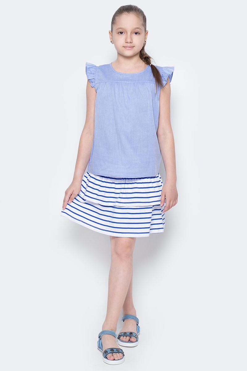 Юбка для девочки Sela, цвет: сине-фиолетовый. SKk-618/135-7233. Размер 134, 9 летSKk-618/135-7233Легкая юбка для девочки Sela выполнена из натурального хлопка и оформлена принтом в полоску. Юбка расклешенного кроя мини-длины с поясом на мягкой резинке подойдет для прогулок и дружеских встреч и станет отличным дополнением гардероба юной модницы. Мягкая ткань комфортна и приятна на ощупь.