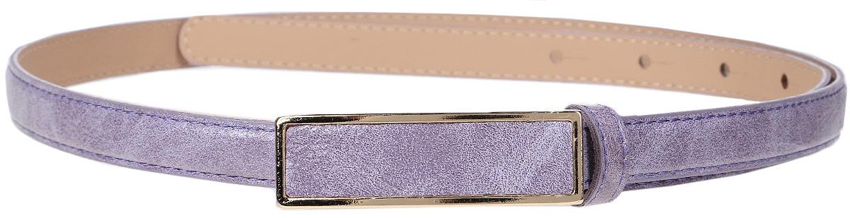Ремень женский Finn Flare, цвет: сиреневый. S17-11304_820. Размер (80)S17-11304_820Такой симпатичный матовый ремешок украсит любое ваше летнее платье или лёгкую рубашку! Прямоугольная пряжка и модный цвет освежат даже самый скучный наряд. Выполнен ремешок из прочной искусственной кожи.