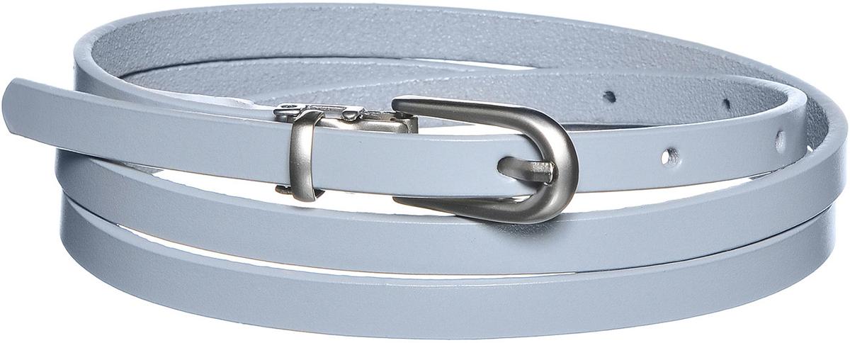 Ремень91/0253/001Классический узкий ремень в стиле модерн. Выполнен из натуральной кожи. Декорирован пряжкой цвета перламутровый никель. Ширина: 0,8 см. Длина: 107,5 см. Длина регулируется специальным механизмом.