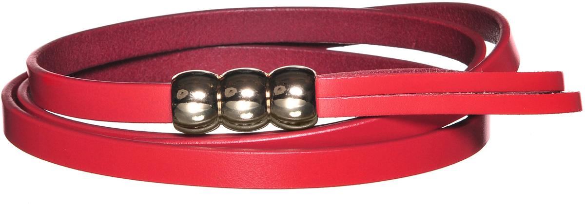 Ремень91/0262/001Превосходный тонкий ремень выполнен из натуральной кожи. Декорирован фурнитурой золотистого цвета. Имеет оригинальный способ носки как на фото с девушкой.