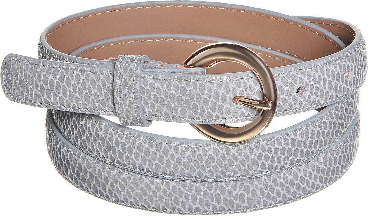 Ремень91/0263/023Потрясающий узкий ремень выполнен из натуральной кожи с лаковой поверхностью имитирующей змеиную кожу. Декорирован пряжкой золотистого цвета.