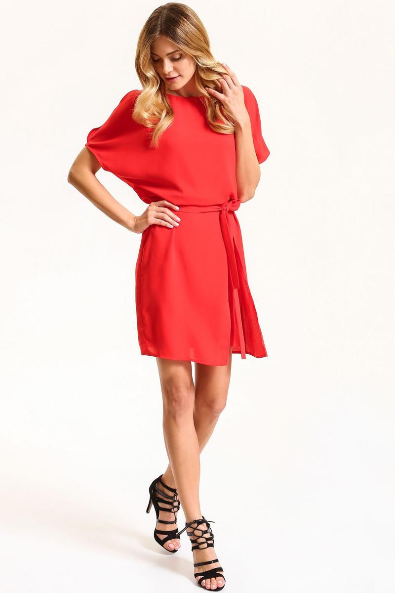 Платье Top Secret, цвет: красный. SSU1837CE. Размер 36 (44)SSU1837CEПлатье Top Secret выполнено из полиэстера. Модель с круглым вырезом горловины и короткими рукавами.