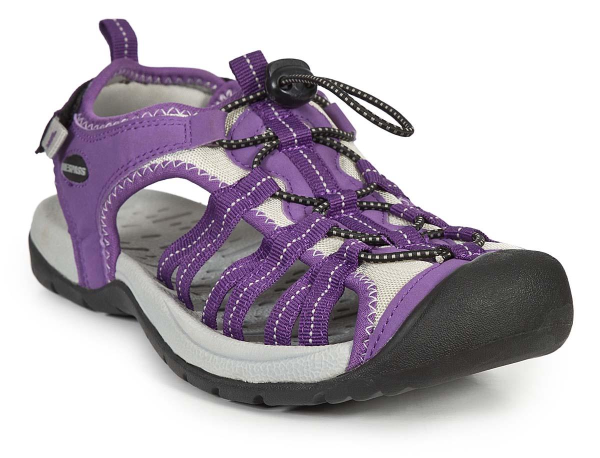 Сандалии женские Trespass Facet, цвет: фиолетовый. FAFOBEL10001. Размер 41FAFOBEL10001Удобные трекинговые сандалии для занятия туризмом. Модель выполнена из текстиля. Резиновая подошва оснащена рифлением.