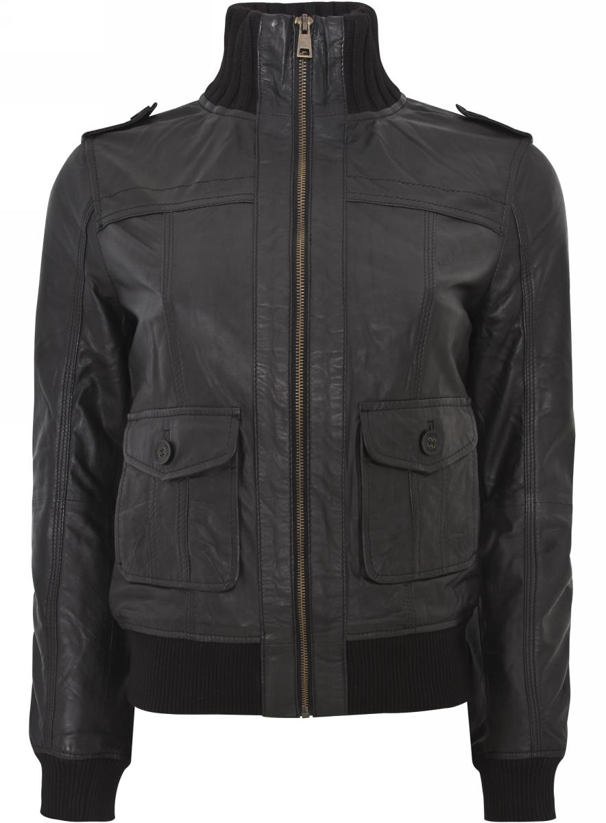 Куртка28B04002/38017/2900NКуртка утепленная из натуральной кожи