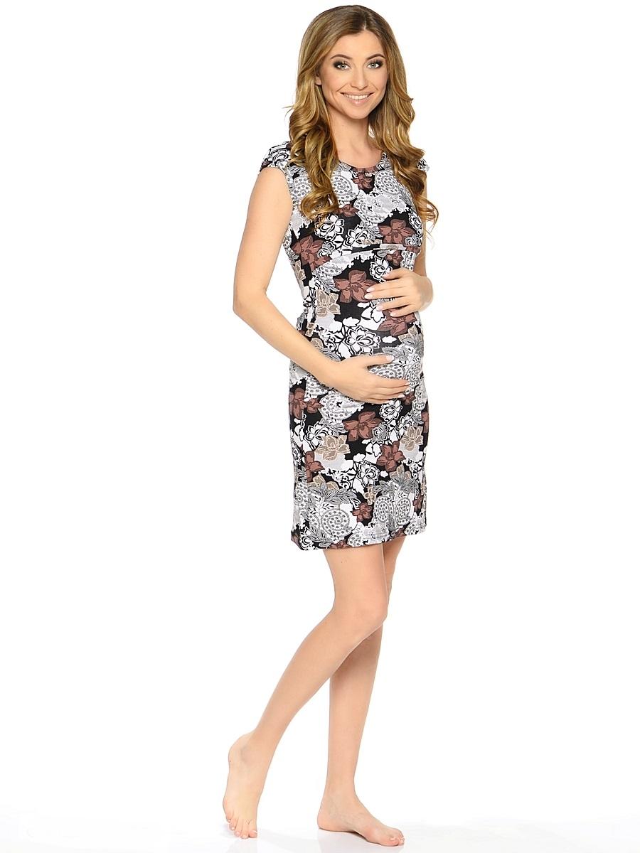 Сорочка для беременных и кормящих 40 недель, цвет: коричневый. 183120. Размер 46183120Комфортная и красивая ночная сорочка для беременных и кормления от бренда 40 недель выполнена из приятного трикотажного полотна. Мягкая ткань, женственный силуэтный покрой и уникальный секрет кормления делают сорочку удобной и любимой, а цветовая гамма изделия позволяет носить ее как домашнее платье для кормления.