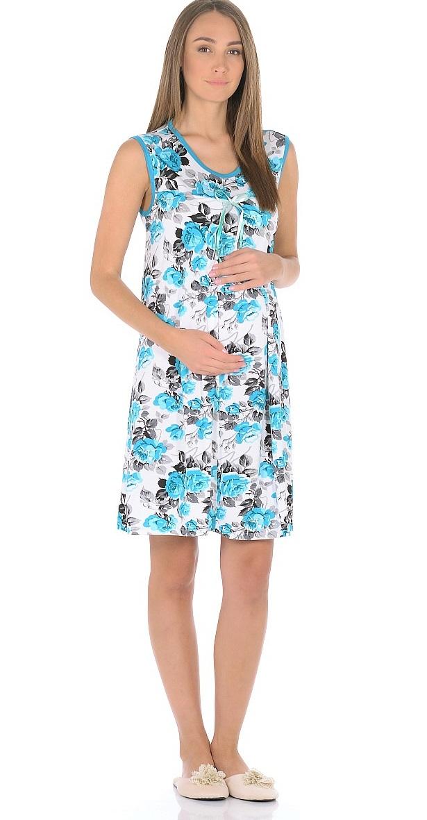 Сорочка ночная для беременных и кормящих 40 недель, цвет: серый, бирюзовый. 191010. Размер 42191010Женственная ночная сорочка для беременных женщин и кормящих мам от бренда 40 недель изготовлена из вискозного полотна. Модель без рукавов, свободного силуэта, с округлым вырезом горловины. В данной модели привлекает внимание женственный дизайн, оригинальная расцветка с контрастной окантовкой и декором на груди, отменный пошив, приятная структура ткани. Свободный крой с красивыми складками от высокой отрезной кокетки предусматривает пространство для животика во время беременности, создает комфорт и свободу движениям во время домашнего отдыха и сна.
