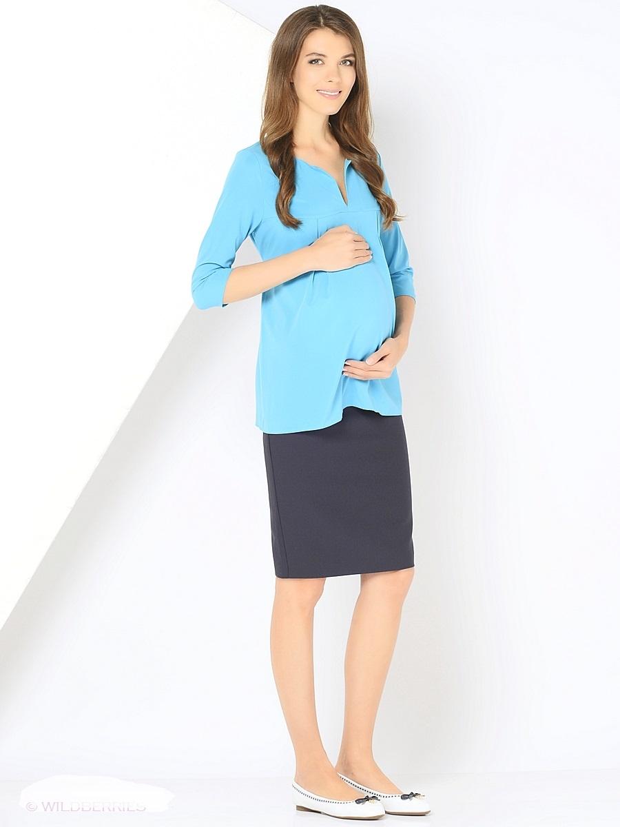 Блузка для беременных 40 недель, цвет: голубой. 210203. Размер 42210203Элегантная блузка для беременных от бренда 40 недель выполнена из вискозного материала. Модель свободного кроя с рукавами длиной 3/4. Округлая горловина дополнена изящным V-образным вырезом. Простор для растущего животика создается за счет отрезной кокетки и встречных складок на груди, а так же его можно регулировать втачными поясками. После беременности такой фасон поможет скрыть временные несовершенства фигуры, и обеспечить комфорт и свободу движениям.