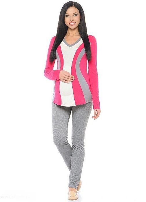 Блузка200229Модная блузка для беременных, выполнена из вискозного полотна в комбинированной расцветке. Модель полуприталенного силуэта, с длинным рукавом и V-образным вырезом горловины. Передняя часть блузки выполнена из фигурных клиньев в гармоничной цветовой гамме. Такой крой визуально делает силуэт стройнее, создаёт объём для животика и позволяет комбинировать такую блузку со многими предметами гардероба на протяжении всего срока беременности и после него.