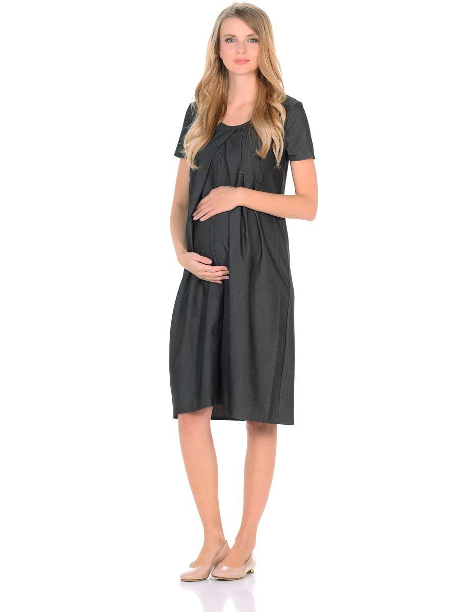 Платье300316Замечательное платье из легкого денима для беременных. Модель с короткими рукавами, с округлым вырезом горловины. Платье свободного покроя в форме тюльпана, специальные отстрочки по переду образуют аккуратные складки от кокетки, создающие объем для животика. Платье превосходно садится по фигуре, благодаря продуманному крою и вытачкам, в тачными поясами можно регулировать силуэт. В таком платье беременная женщина будет чувствовать себя всегда комфортно, и выглядеть стильно и современно.