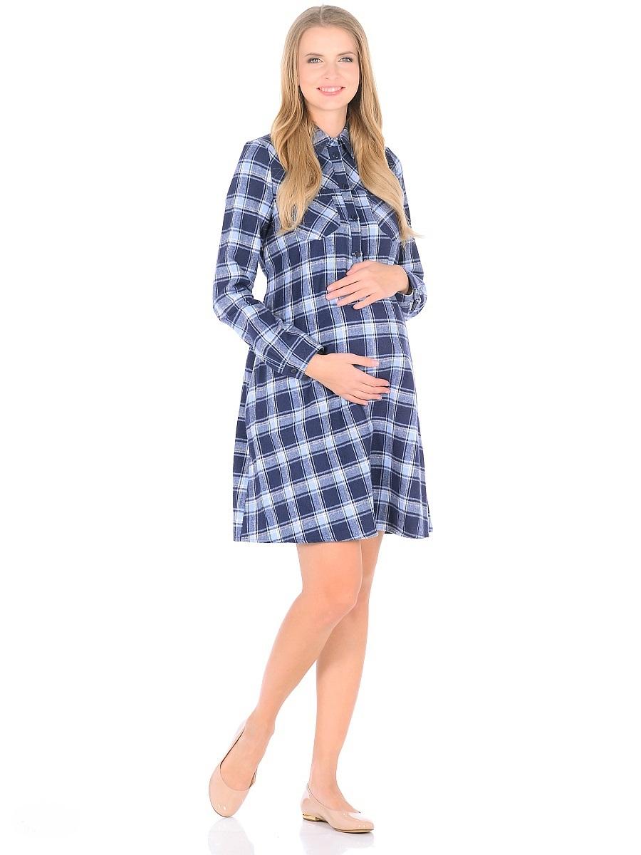 Платье300323Комфортное платье для беременных и кормящих женщин, изготовлено из мягкого трикотажного полотна в клетку. Модель трапециевидного покроя с высокой кокеткой, на спинке складка по верху, рукава длинные на манжетах с пуговицами, воротник отложной, планка до талии застегивается на пуговицы. Платье имеет два накладных кармана на полочке, плюс два в боковых швах, выше талии в тачные пояса. Продуманный универсальный фасон позволяет носить такое платье в период беременности и после рождения малыша. Планка с пуговицами обеспечивает доступность для грудного кормления. Помимо практичных и комфортных характеристик, платье смотрится безупречно женственно и стильно.