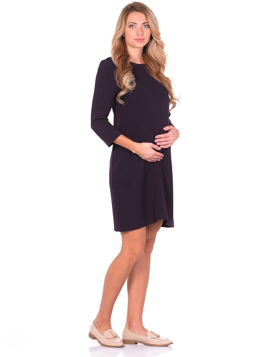 Платье для беременных 40 недель, цвет: темно-фиолетовый. 301313. Размер 48301313Элегантное платье для беременных от бренда 40 недель - прекрасный выбор для будущей мамы на каждый день. Модель прямого силуэта с рукавом 7/8 и вырезом горловины лодочка. Платье отлично садится по фигуре, благодаря продуманному крою и мягкости ткани. Шлица в среднем шве спинки обеспечивает свободные движения при ходьбе и подчеркивает элегантный лаконичный дизайн. Универсальный классический фасон позволяет носить такое платье на любом сроке беременности и после. Дополнив такое платье любимыми украшениями и аксессуарами, можно легко изменить образ, сделать его особенным и неповторимым.