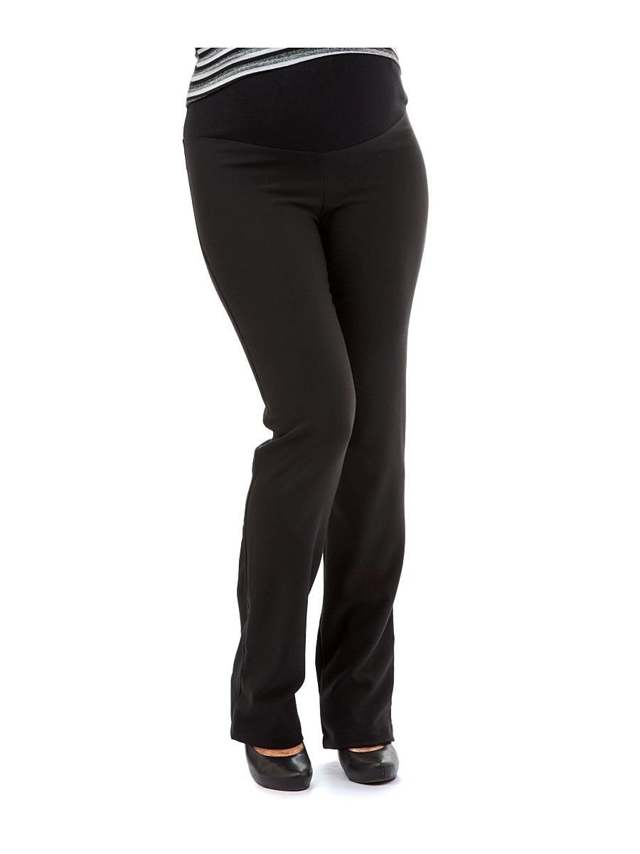 Брюки120125Классические брюки для беременных из мягкого текстильного полотна, прямого покроя, дополнены трикотажной вставкой под животик и регулируемой резиночкой, что позволяет носить их на всем сроке беременности. Брюки отлично подойдут как для работы в офисе, так и на каждый день.