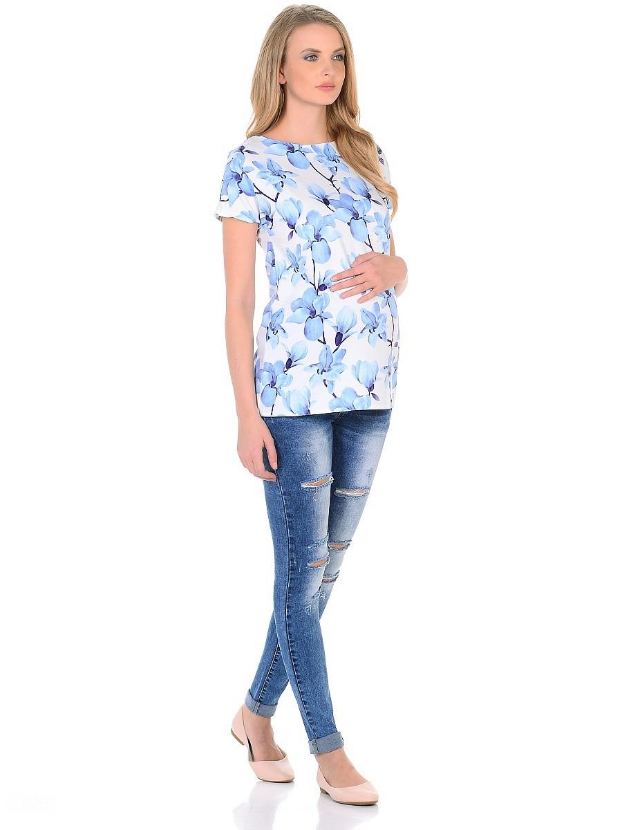 Джинсы для беременных 40 недель, цвет: голубой. 103188. Размер 46103188Джинсы для беременных от бренда 40 недель - прекрасный выбор для будущей мамы на каждый день. Модель зауженного кроя, с высокой посадкой по талии. Джинсы имеют трикотажную кокетку с регулируемой резинкой в поясе, что позволяет носить их с комфортом, на любом сроке беременности и после рождения малыша. Передние и задние накладные карманы дополнены для практичности специальными заклепками в уголках, которые спасают джинсы от распарывания по шву. Вываренный цвет, потертости и модные дизайнерские порезы придают стильный гранжевый оттенок. Благодаря оптимальному содержанию эластана, джинсы отлично садятся на любую фигуру, не сковывают движений, хорошо держат форму. Джинсы универсальны в своем применении, они комбинируются со многими предметами гардероба, в них образ выглядит стильно, современно и безупречно в любой ситуации.
