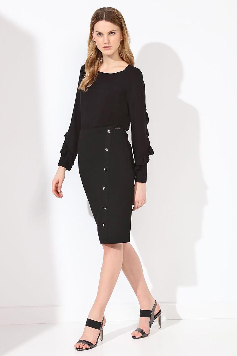 БлузкаSBD0684CAБлузка женская Top Secret выполнена из вискозы. Модель с круглым вырезом горловины и длинными рукавами.