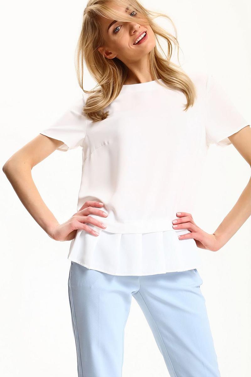 БлузкаSBK2229BIБлузка женская Top Secret выполнена из полиэстера. Модель с круглым вырезом горловины и короткими рукавами.