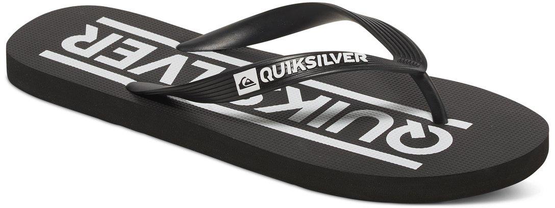 СланцыAQYL100235-XKBKМодные мужские сланцы Java Wordmark от Quiksilver покорят вас своим удобством. Верх модели выполнен из мягкого пластика. Эргономичная перемычка между пальцами позволит надежно закрепить модель на стопе. Мягкая фактурная стелька позволяет не скользить ноге при движении. Упругая губчатая каучуковая подошва с логотипом Quiksilver обеспечивает уверенное сцепление с любой поверхностью. Текстовый и графический логотип Quiksilver на стрепе придает сланцам особый вид. Стильные сланцы прекрасно подойдут для похода в бассейн или на пляж.