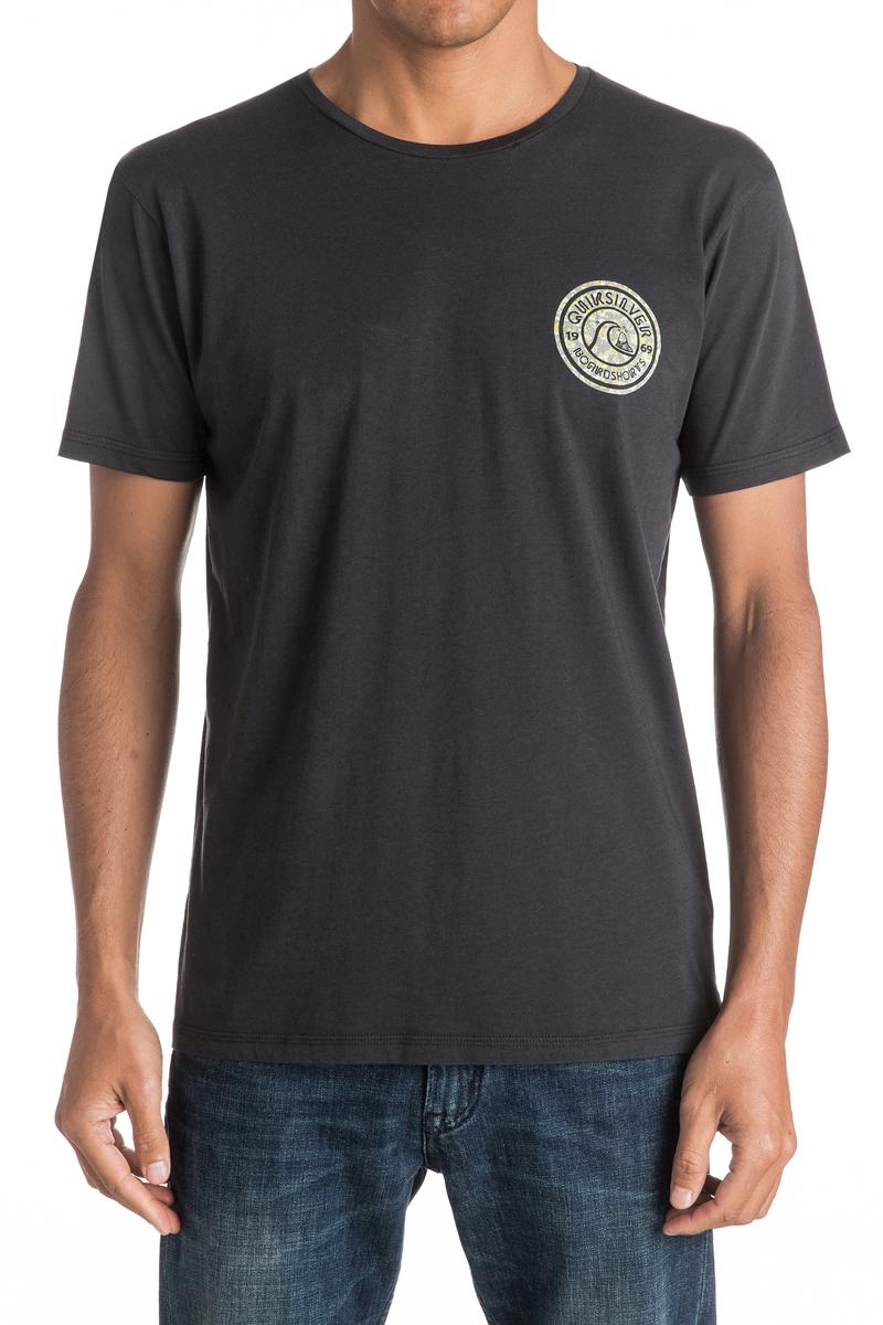 ФутболкаEQYZT04329-BQK0Мужская футболка Quiksilver изготовлена из качественного натурального хлопка. Модель выполнена с круглой горловиной и короткими рукавами.