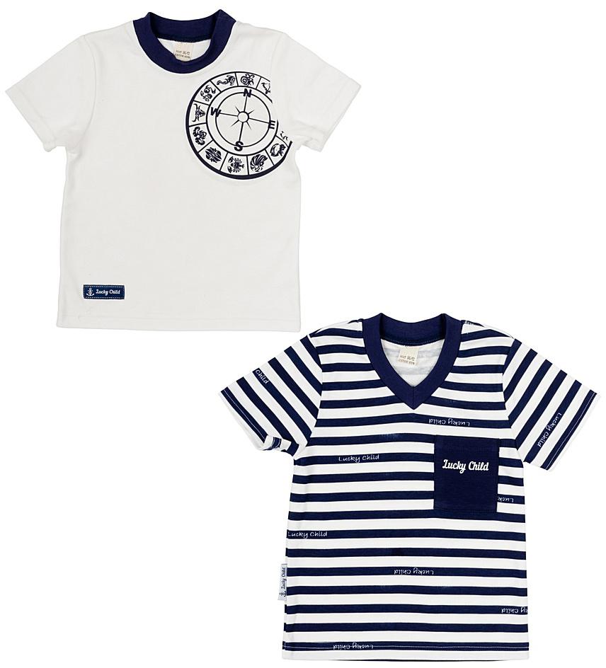 Комплект одежды28-26МКомплект футболок из коллекции «Лазурный берег» от Lucky Child. Вы можете менять их согласно своему настроению или расположению звезд на небе. Самое главное – качество, всегда останется неизменным.