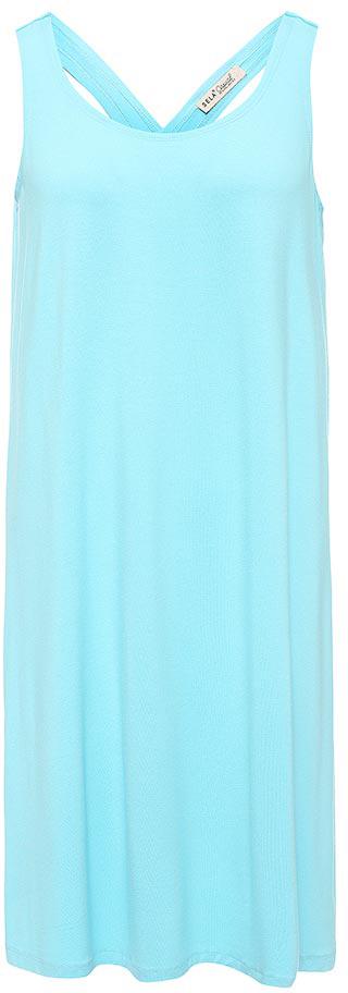 Платье Sela, цвет: светлый аквамарин. Dksl-317/1153-7214. Размер L (48)Dksl-317/1153-7214Оригинальное женское платье-сарафан Sela выполнено из качественного трикотажа. Модель А-силуэта с круглым вырезом горловины и оригинальной спинкой подойдет для прогулок и дружеских встреч и станет отличным дополнением гардероба в летний период. Мягкая ткань на основе вискозы и эластана комфортна и приятна на ощупь и хорошо тянется.