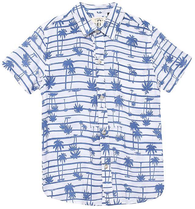 РубашкаHs-812/203-7215Стильная рубашка для мальчика Sela выполнена из качесвтенного легкого материала и оформлена ярким принтом. Модель прямого кроя с короткими рукавами и отложным воротничком застегивается на пуговицы и дополнена накладным карманом на груди. Яркий цвет модели позволяет создавать стильные летние образы.