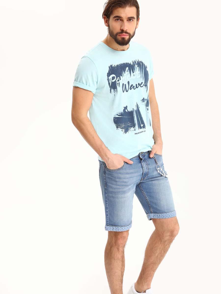 Шорты мужские Top Secret, цвет: синий. SSZ0760NI. Размер 36 (52)SSZ0760NIМужские джинсовые шорты Top Secret выполнены из хлопка с добавлением эластана. Модель застегивается на молнию и пуговицу. Пояс дополнен шлевками. Спереди модель оформлена двумя прорезными карманами, одним маленьким накладным кармашком и съемным шнурком на карабинах, сзади - двумя накладными карманами. Понизу изделие дополнено подворотами с текстильной вставкой, оформленной принтом.