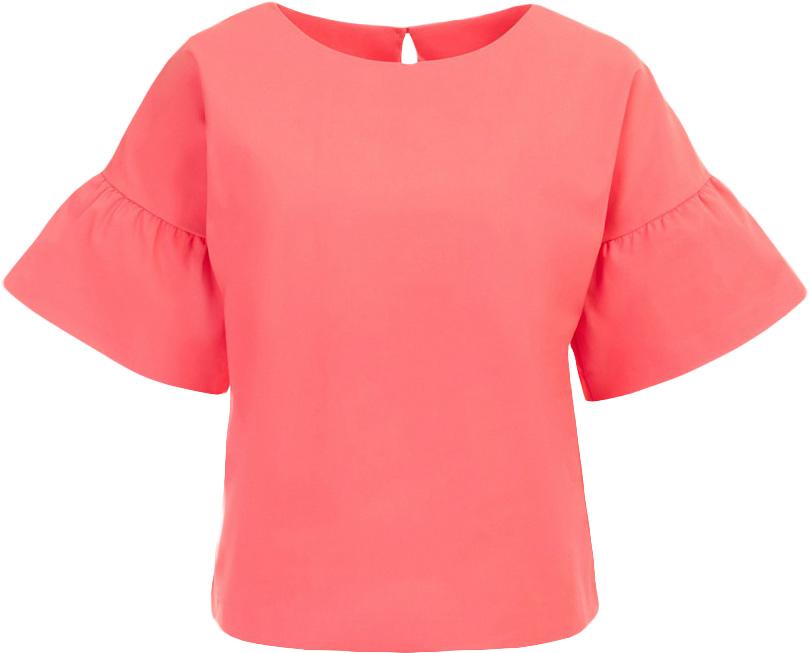 Блузка женская Baon, цвет: розовый. B197017_Pieplant. Размер M (46)B197017_PieplantБлузка женская Baon выполнена из хлопка, полиамида и эластана. Блузка имеет прямой крой. На спине расположена застёжка на пуговицу.