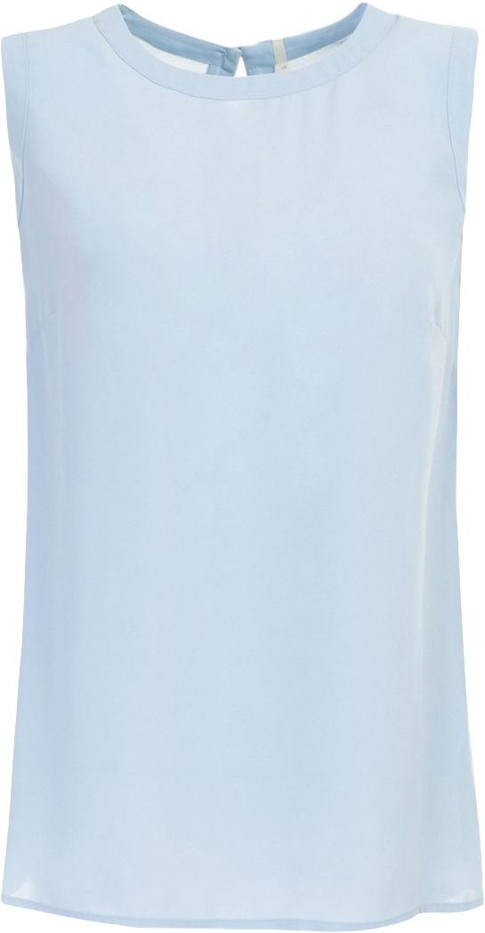 ТопB267028_WhiteТоп женский Baon выполнен из полиэстера. Модель с круглым вырезом горловины застегивается на пуговицу.