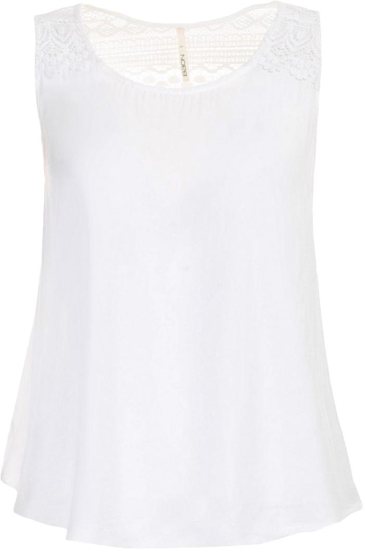 Топ женский Baon, цвет: белый. B267031_Milk. Размер XS (42)B267031_MilkТоп женский Baon выполнен из вискозы. Модель с круглым вырезом горловины.