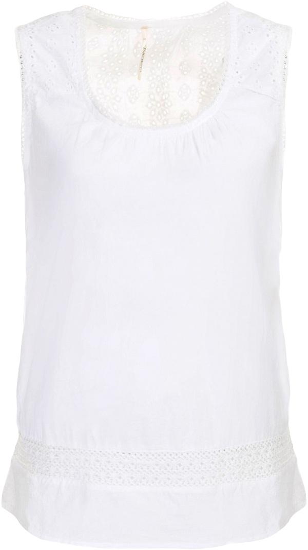 ТопB267033_WhiteТоп женский Baon выполнен из натурального хлопка. Модель с круглым вырезом горловины.