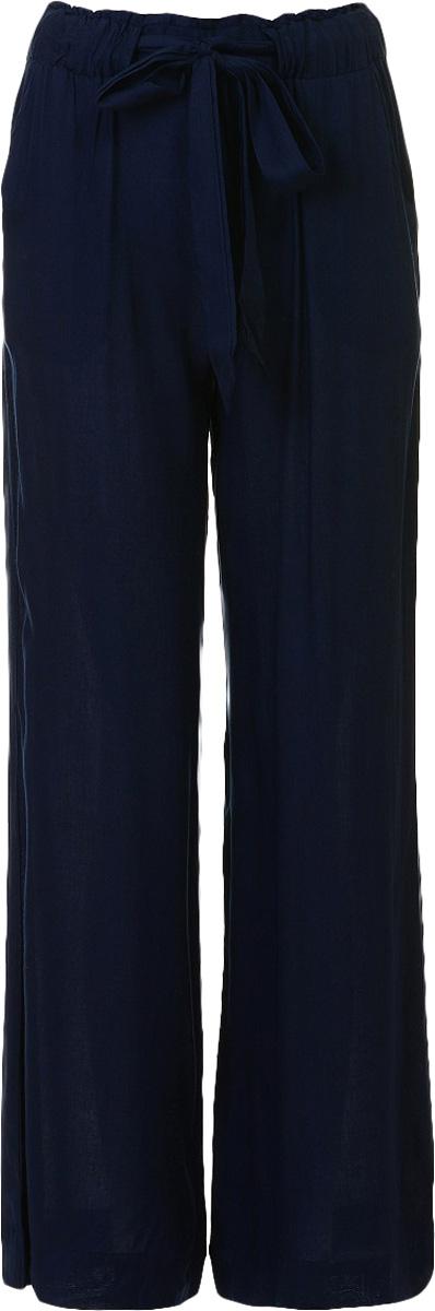Брюки женские Baon, цвет: темно-синий. B297044_Dark Navy. Размер L (48)B297044_Dark NavyБрюки женские Baon выполнены из вискозы. Модель дополнена поясом.