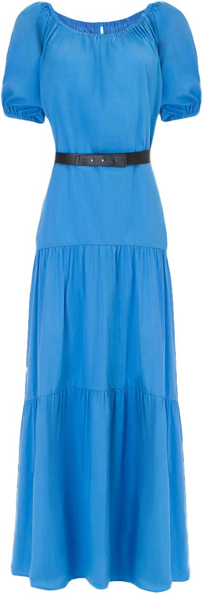 Платье Baon, цвет: синий. B457053_Larkspur. Размер M (46)B457053_LarkspurПлатье Baon выполнено из хлопка, эластана и полиамида. Эластичная вставка в верхней части изделия позволит вам носить платье несколькими способами, в том числе, и с актуально открытыми плечами. Приталенный силуэт можно создать при помощи пояса из искусственной кожи.