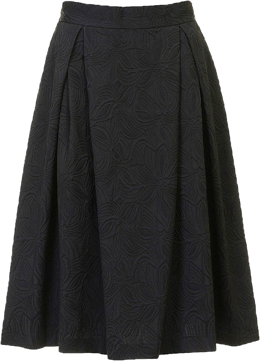 ЮбкаB477027_Black JacquardЮбка женская Baon выполнена из полиэстера, хлопка и эластана. Модель оформлена оригинальным принтом.