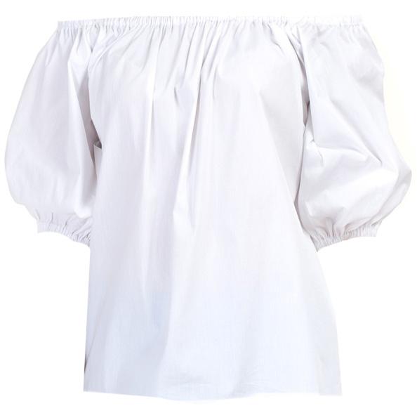 Блузка женская Baon, цвет: белый. B197064_White. Размер M (46)B197064_WhiteБлузка женская Baon выполнена из хлопка, эластана и полиамида. Манжеты и вырез горловины дополнены эластичными вставками-резинками.