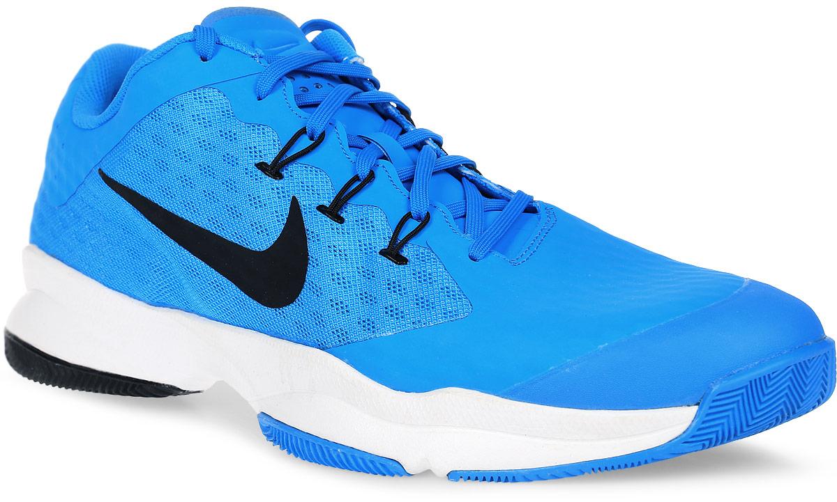 Кроссовки для тенниса мужские Nike Air Zoom Ultra, цвет: голубой. 845007-400. Размер 13 (47,5)845007-400Мужские кроссовки для тенниса Air Zoom Ultra от Nike подходят для игры в зале и на кортах с любым покрытием. Модель выполнена из многослойного сетчатого материала и дополнена накладками из синтетической кожи на передней части стопы. Нити Flywire создают динамическую фиксацию. Подкладка и стелька из текстиля комфортны при движении. Шнуровка надежно зафиксирует модель на ноге. Вставки Zoom Air в передней части стопы обеспечивают оптимальную амортизацию. Подметка из износостойкой резины для надежного сцепления с поверхностью и исключительной прочности.