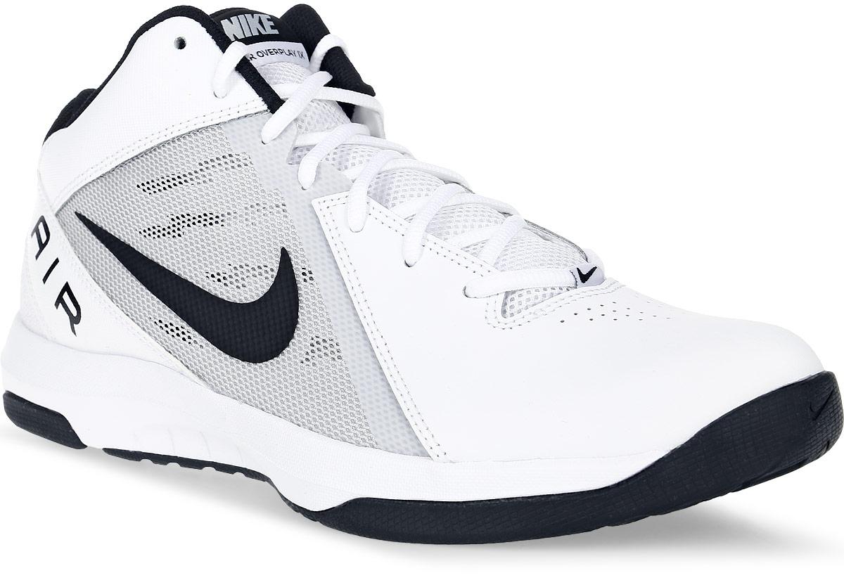 Кроссовки для баскетбола мужские Nike The Air Overplay Ix, цвет: белый. 831572-100. Размер 10,5 (44)831572-100Баскетбольные высокие кроссовки The Air Overplay Ix от Nike выполнены из сетчатого текстиля, натуральной и искусственной кожи. Подкладка из текстиля не натирает. Стелька Phylon со специальным супинатором для устойчивости. Шнуровка надежно зафиксирует модель на ноге. Резиновый протектор с рисунком елочка обеспечивает непревзойденное сцепление с поверхностью и предотвращает скольжение.