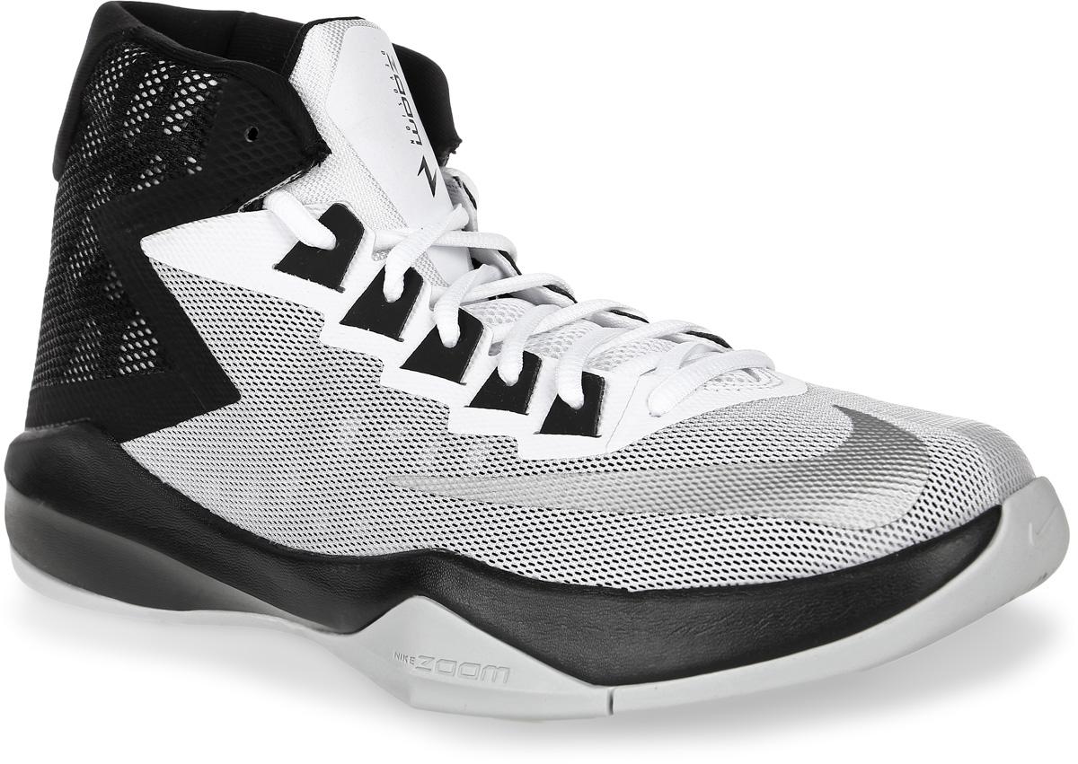 Кроссовки для баскетбола мужские Nike Zoom Devosion Basketball Shoe, цвет: белый, черный. 844592-100. Размер 11,5 (46)844592-100Кроссовки для баскетбола Zoom Devosion Basketball Shoe от Nike обеспечивают непревзойденную амортизацию и комфорт. Модель выполнена из сетчатого текстиля с бесшовными полимерными накладками. Материал обеспечивает отличную воздухопроницаемость. Бесшовная конструкция повышает уровень комфорта в движении. Литая стелька обеспечивает дополнительную поддержку. Подкладка из текстиля не натирает. Технология Zoom и подошва Cushlon обеспечивают оптимальную амортизацию и смягчают ударные нагрузки.