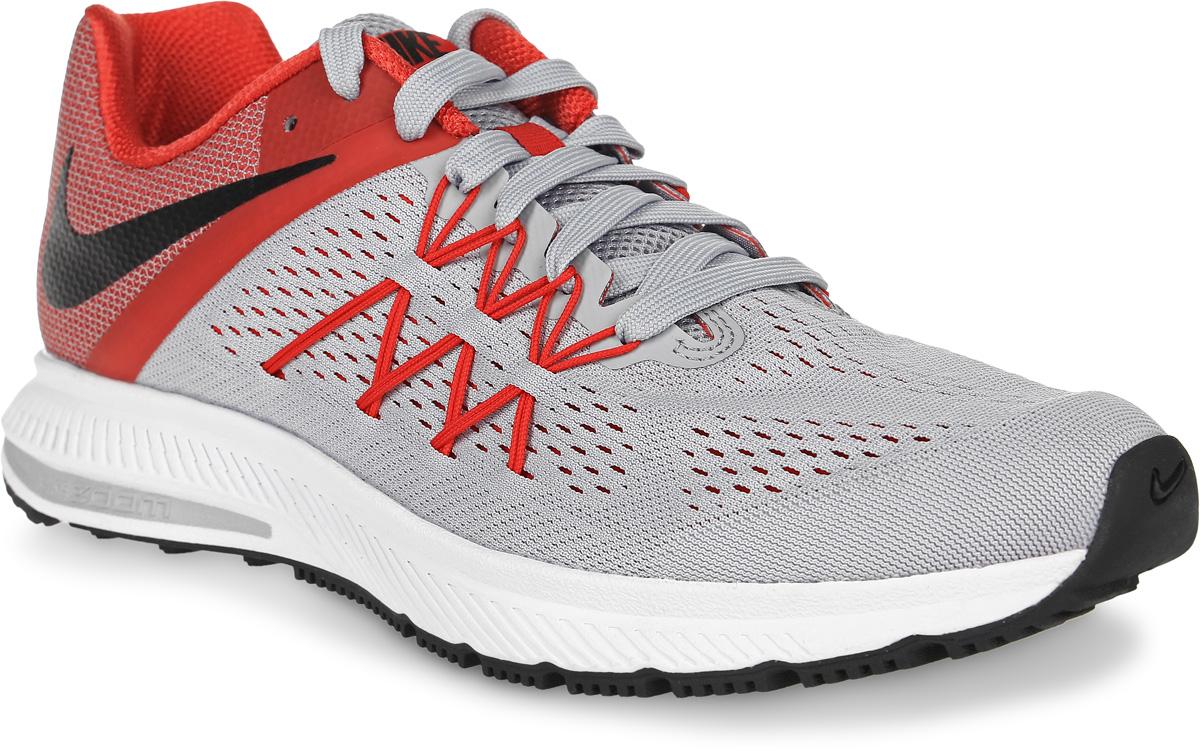 Кроссовки831561-008Кроссовки для бега Zoom Winflo 3 от Nike выполнены из сетчатого текстиля. Обновленный верх из особой сетки с технологией Flywire для плотной посадки и воздухопроницаемости. Бесшовная конструкция повышает уровень комфорта в движении. Подкладка из текстиля комфортна при движении. Литая стелька обеспечивает дополнительную поддержку. Технология Zoom и подошва Cushlon обеспечивают оптимальную амортизацию и смягчают ударные нагрузки.