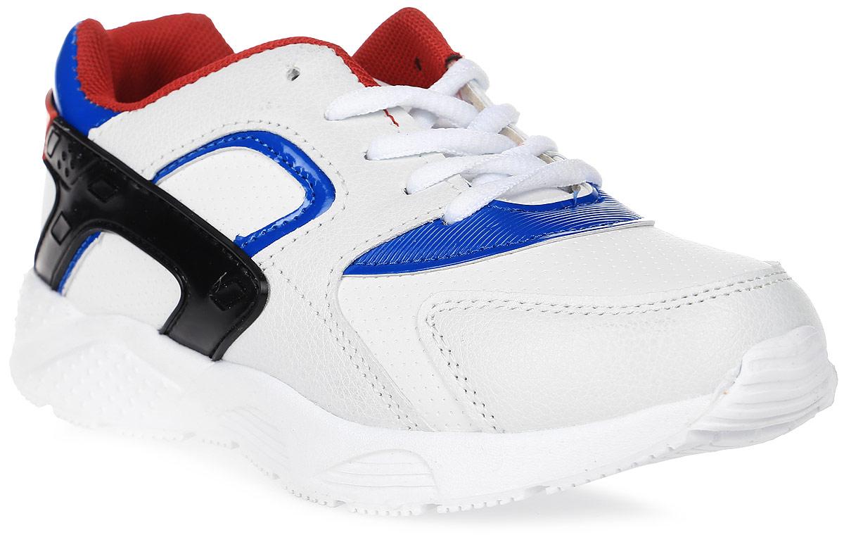 Кроссовки для мальчика Patrol, цвет: белый, синий. 967-637T-17s-01-10. Размер 33967-637T-17s-01-10Стильные кроссовки от Patrol - отличный выбор для вашего мальчика на каждый день. Верх модели выполнен из искусственной кожи и оформлен перфорацией и декоративной прострочкой. Шнуровка обеспечивает надежную фиксацию обуви на ноге. Подкладка и стелька из текстильного материала создают комфорт при носке. Подошва выполнена из легкого пенопропилена.Рифление на подошве обеспечивает отличное сцепление с любой поверхностью.Модные и комфортные кроссовки - необходимая вещь в гардеробе каждого ребенка.