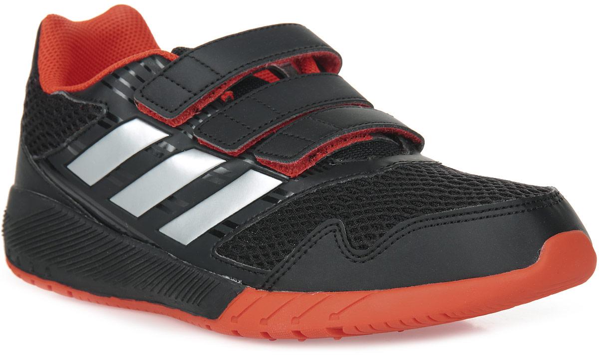 Кроссовки для мальчика adidas AltaRun CF K, цвет: черный, красный. BA7424. Размер 28BA7424Комфортные беговые кроссовки, которые помогут юному чемпиону достигнуть впечатляющих результатов. Дышащий верх из сетки обеспечивает необходимый уровень вентиляции и свежести. Удобные ремешки на липучках для быстрого надевания и снимания. Удобная и функциональная стелька с антимикробным покрытием EcoOrthoLite®.Мягкая резиновая подошва.