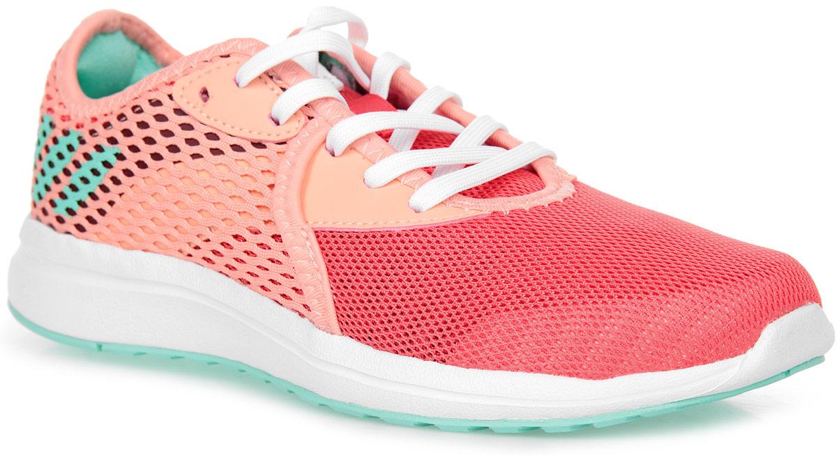 Кроссовки для девочки adidas Durama 2 k, цвет: розовый, красный. BA7412. Размер 30BA7412Детские беговые кроссовки, в которых юным чемпионам будет удобно в течение всего дня. Промежуточная подошва из пенного материала cloudfoam поглощает ударные нагрузки, смягчая каждый шаг и прыжок. Сетчатый верх хорошо вентилирует подвижные ножки. Цепкая резиновая подошва прослужит долгое время.