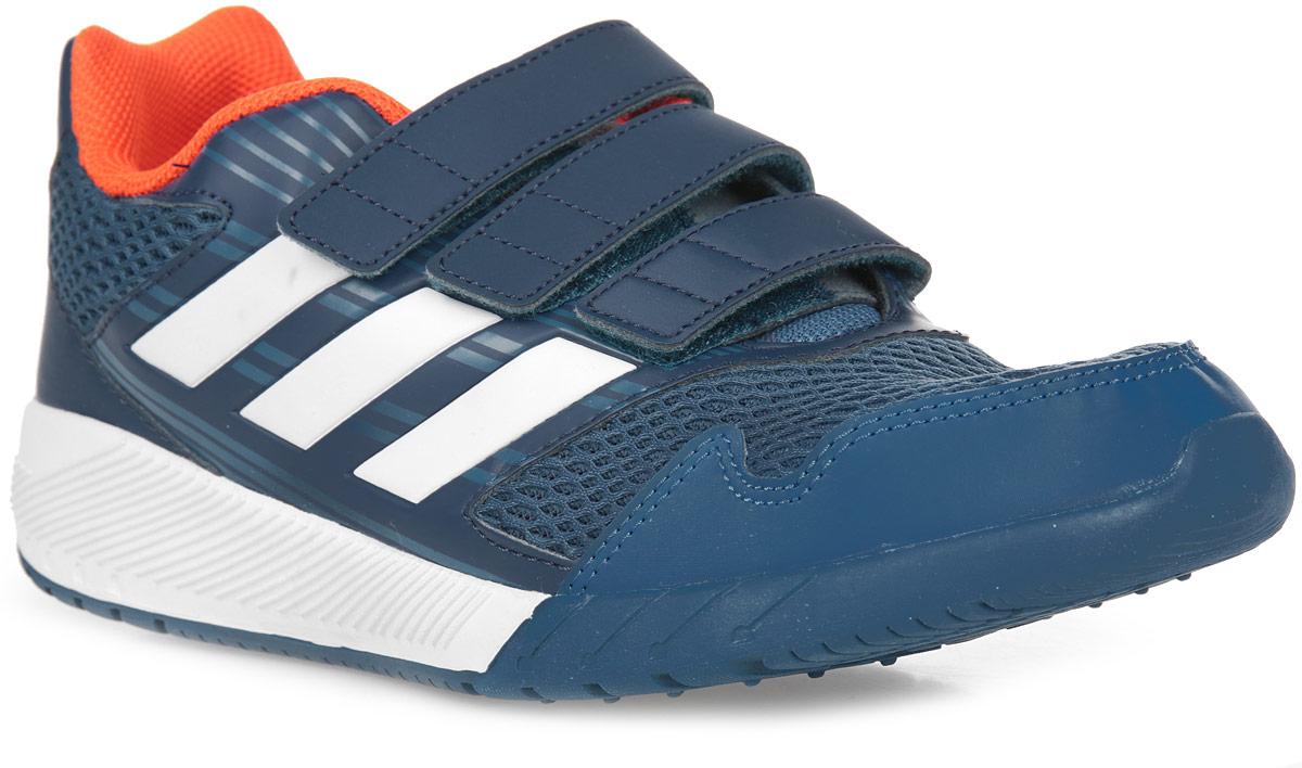 Кроссовки для мальчика adidas AltaRun CF K, цвет: синий, белый. BA7425. Размер 3 (35)BA7425Комфортные беговые кроссовки, которые помогут юному чемпиону достигнуть впечатляющих результатов. Дышащий верх из сетки обеспечивает необходимый уровень вентиляции и свежести. Удобные ремешки на липучках для быстрого надевания и снимания. Удобная и функциональная стелька с антимикробным покрытием EcoOrthoLite®.Мягкая резиновая подошва.