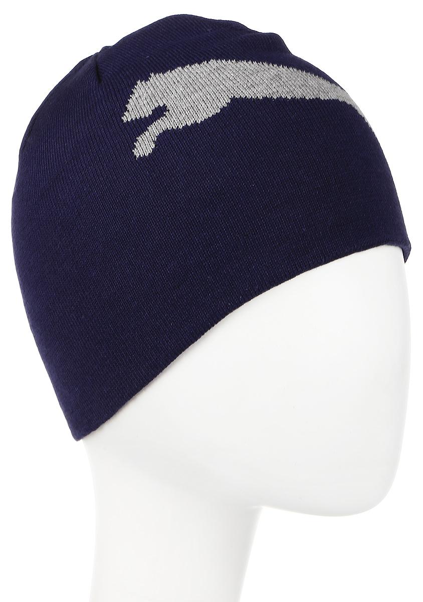 Шапка052925_05Двухслойная вязаная в резинку шапка с логотипами Puma. Удобная шапка согреет вас холодным осенним или зимним днем.