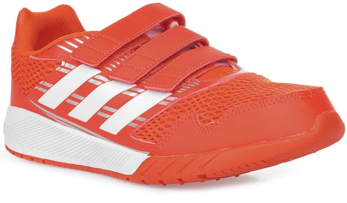 Кроссовки для мальчика adidas AltaRun CF K, цвет: красный, белый. BA7426. Размер 34BA7426Комфортные беговые кроссовки, которые помогут юному чемпиону достигнуть впечатляющих результатов. Дышащий верх из сетки обеспечивает необходимый уровень вентиляции и свежести. Удобные ремешки на липучках для быстрого надевания и снимания. Удобная и функциональная стелька с антимикробным покрытием EcoOrthoLite®.Мягкая резиновая подошва.