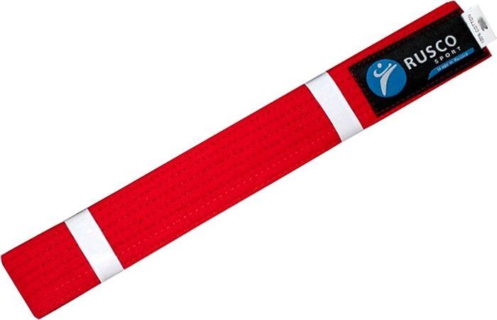 Пояс для единоборств Rusco, цвет: красный. УТ-00001922. Длина 280 смПояс УТ-0000Пояс для единоборств предназначен для занятий различными боевыми искусствами.