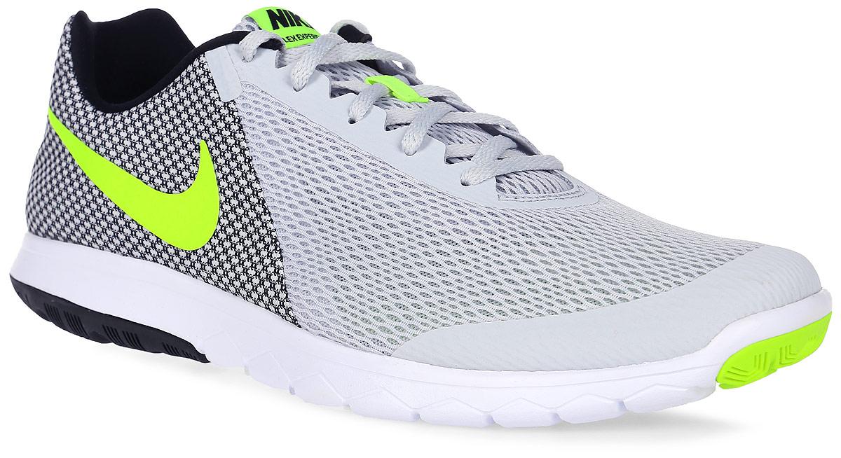 Кроссовки для бега мужские Nike Flex Experience Rn 6, цвет: светло-серый, черный, белый. 881802-005. Размер 9 (42)881802-005Модные мужские кроссовки для бега Flex Experience Rn 6 от Nike выполнены из текстиля и дополнены бесшовными накладками. Подкладка и стелька из текстиля обеспечивают комфорт. Шнуровка надежно зафиксирует модель на ноге. Подошва дополнена рифлением.