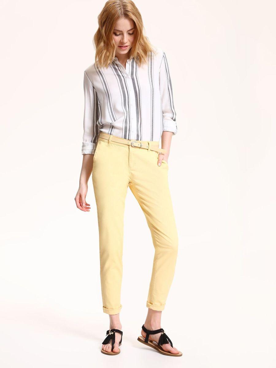 Брюки женские Top Secret, цвет: желтый. SSP2532ZO. Размер 36 (44)SSP2532ZOСтильные женские брюки Top Secret - брюки высочайшего качества на каждыйдень, которые прекрасно сидят. Модель изготовлена из хлопка с добавлением эластана.Спереди по бокам имеются два прорезных кармана. Пояс оснащен шлевками.Модные и комфортные брюки послужат отличным дополнением к вашему гардеробу, в них вы всегда будете чувствовать себя уютно и комфортно.