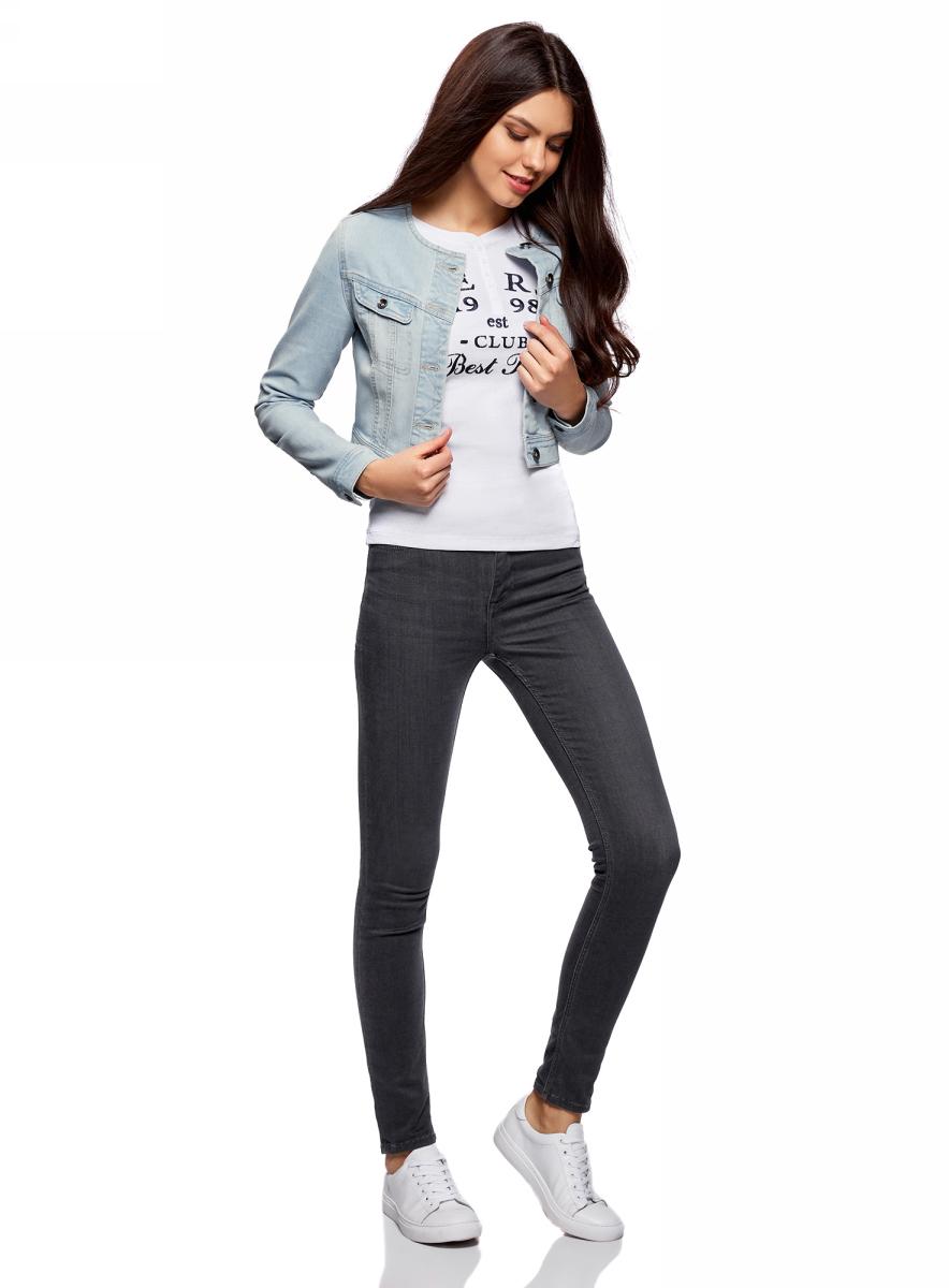 Жакет11109003-2/46785/7000WКуртка джинсовая без воротника